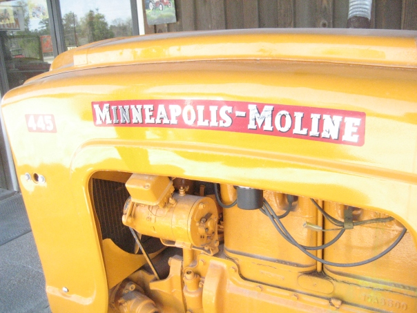 Side View of Minneapolis Moline tractor